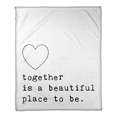 Together is Beautiful Fleece Throw Blanket