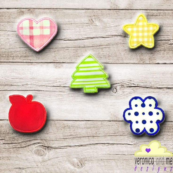 Have you ever looked for a little something extra to add to your embroidery design or only have a small spot on your item to add a design?  I know the feeling!  Thats where having a few basic appliqué shapes in your catalogue is a great idea.