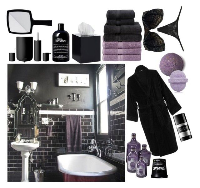 Dream bathroom black purple theme dream bathrooms bathroom purple and bathroom black Purple and black bathroom ideas
