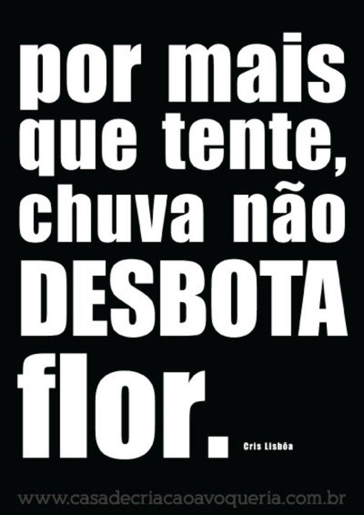 Pôster Chuva não desbota flor (Coleção Cris Lisbôa) - Casa de Criação A Vó Queria...
