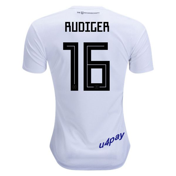 Antonio Rudiger 16 2018 FIFA World Cup Germany Home Soccer Jersey