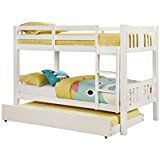 Furniture of America 2 Piece Davis Transitional Bunk Bed with Trundle Set Twin/Twin White deals week