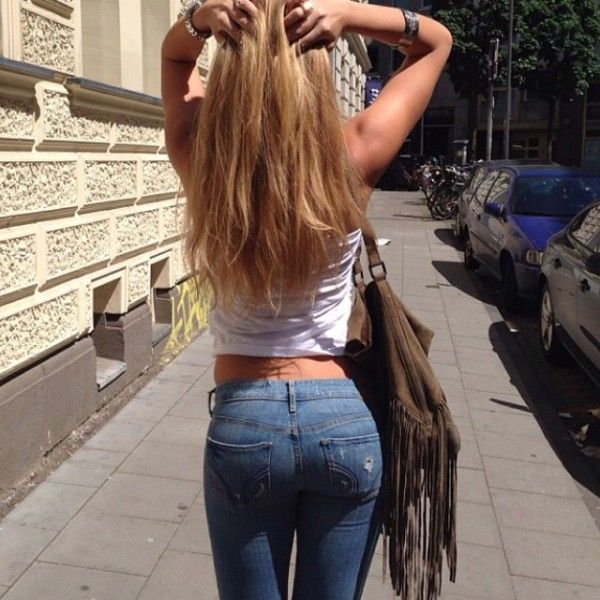 Perfect ass in tight jeans #1