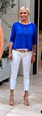 yolanda foster in white jeans -
