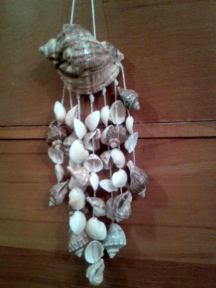Seashell wall decor diy seashells crafts my creation for Seashell ornaments diy