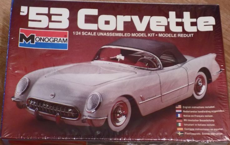 Complete, Sealed 1982 Monogram Model Kit of 1953 Chevy Corvette Car 1/24 Scale by XtraThings on Etsy