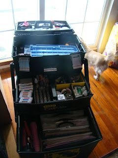 Hello my scrappin' buddies..... just wanted you all to know that my darling husband bought me a Stanley FatMax tool box.... I know you may t...