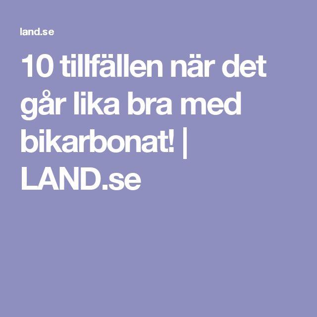 10 tillfällen när det går lika bra med bikarbonat! | LAND.se