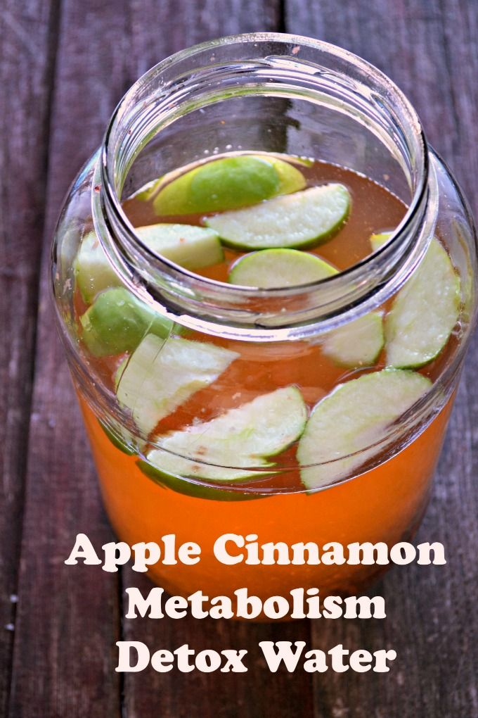 Dr. Oz recommended Apple Cinnamon Metabolism Detox Water Recipe #SoFabFood