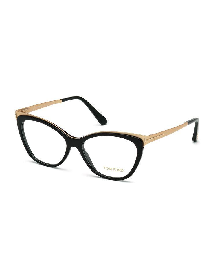 TOM FORD Cat-Eye Optical Frames, Shiny Black
