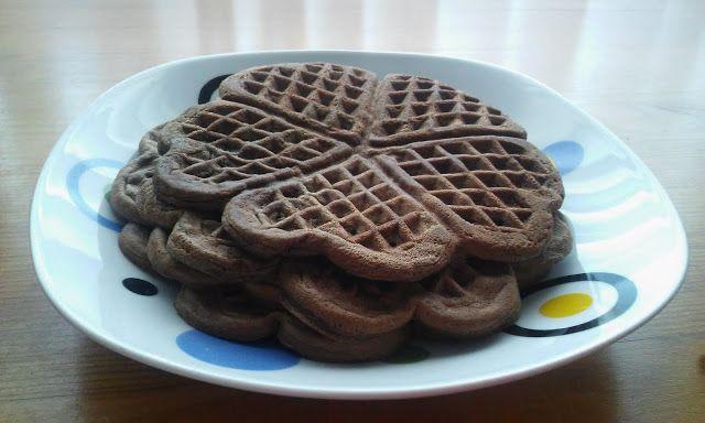 Dieta Sim, todos os Dias: Waffles de alfarroba e amêndoa (sem açúcares e sem...