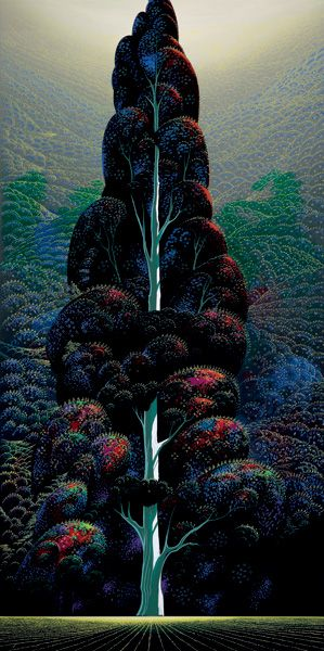 zephyrantes:    Reaching for the sky, Eyvind Earle