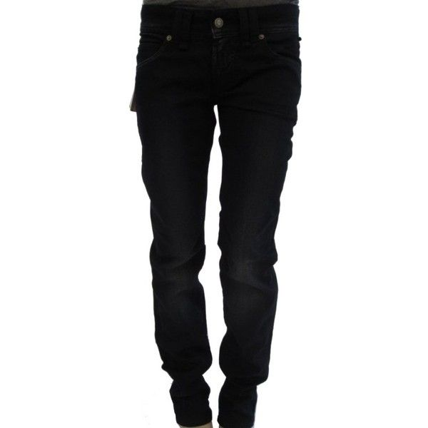 Galliano jeans ($77) ❤ liked on Polyvore featuring jeans, pants, black, black jeans, galliano und summer jeans