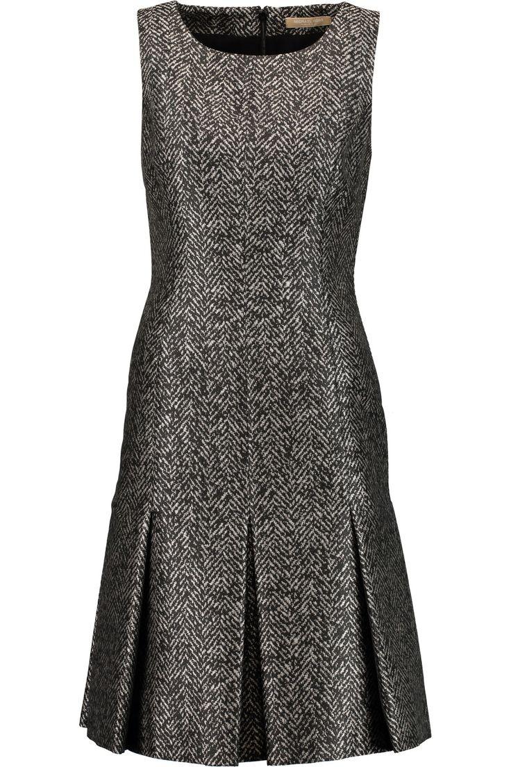 MICHAEL KORS Herringbone jacquard dress. #michaelkors #cloth #dress