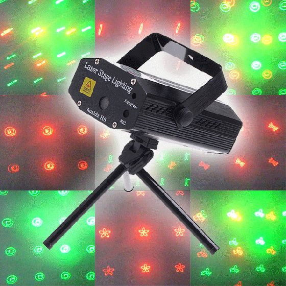 Pool Table Light Projector: Mini Multicolor Moving Party Stage Laser Light Projector