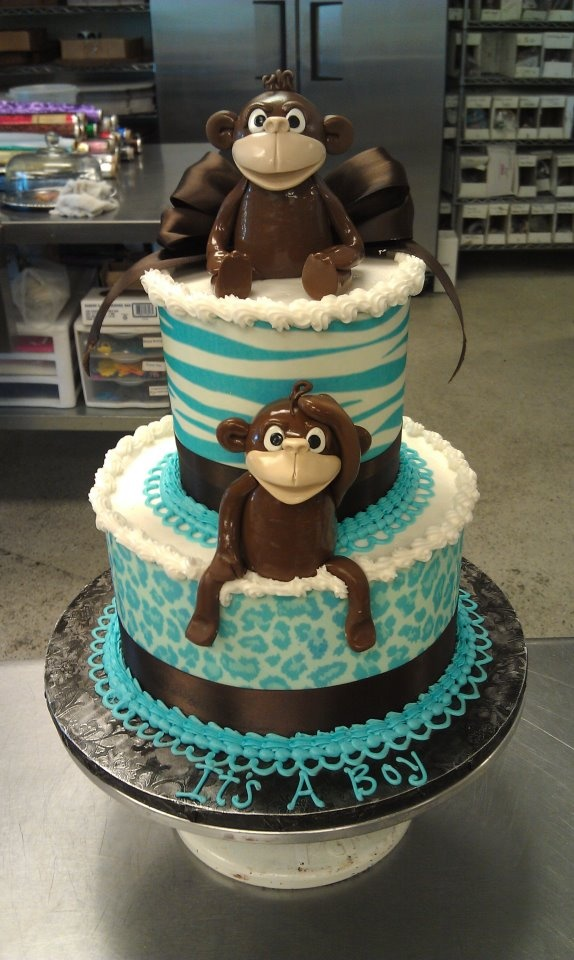 monkey baby shower cake baby boy x 39 s baby shower pinterest