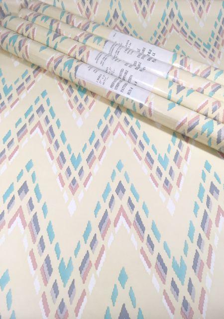 VTG Waverly Wallpaper Lot Of 4 Pastel Southwest Abstract Chevron Stripe   eBay