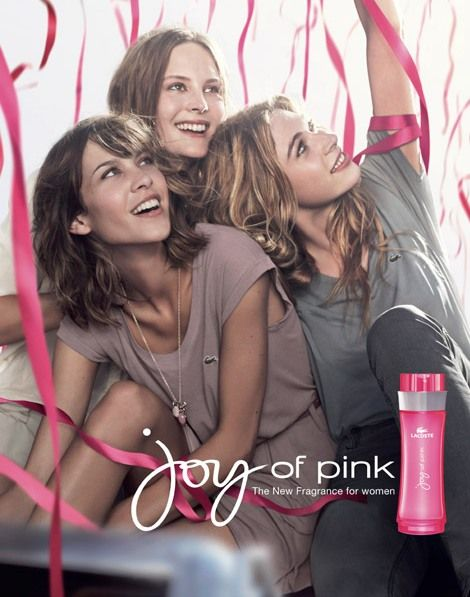 Alexa Chung For Lacoste 'Joy of Pink' Fragrance Ad Campaign