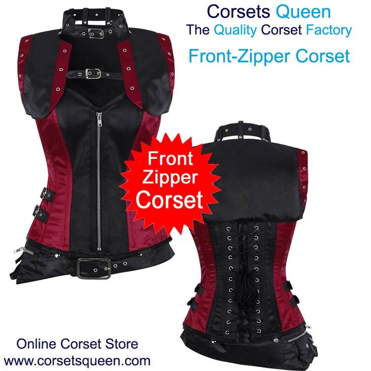 Agnes Steampunk Overbust #Corset, Red and Black Corset Dress, Overbust Red and Black Corset Dress