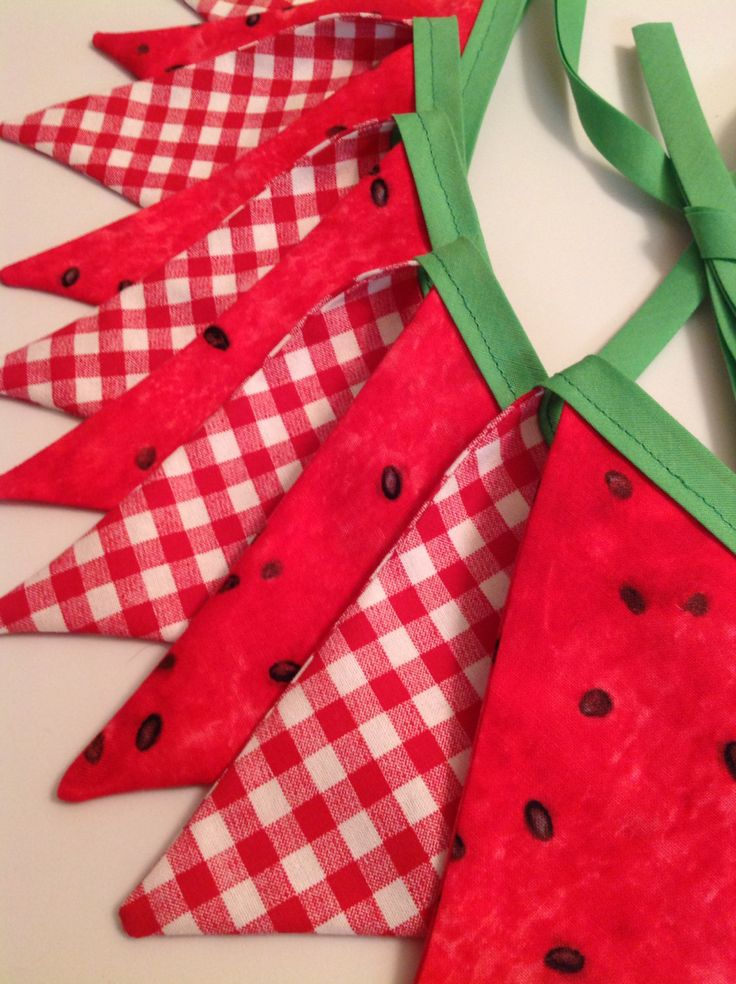 Watermelon Picnic Summer Bunting Banner