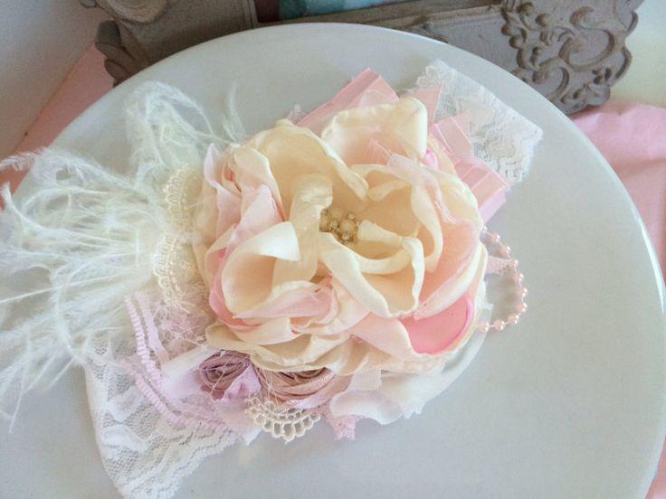 Ivory Flower Headband Baby Headbands baby от AvryCoutureCreations