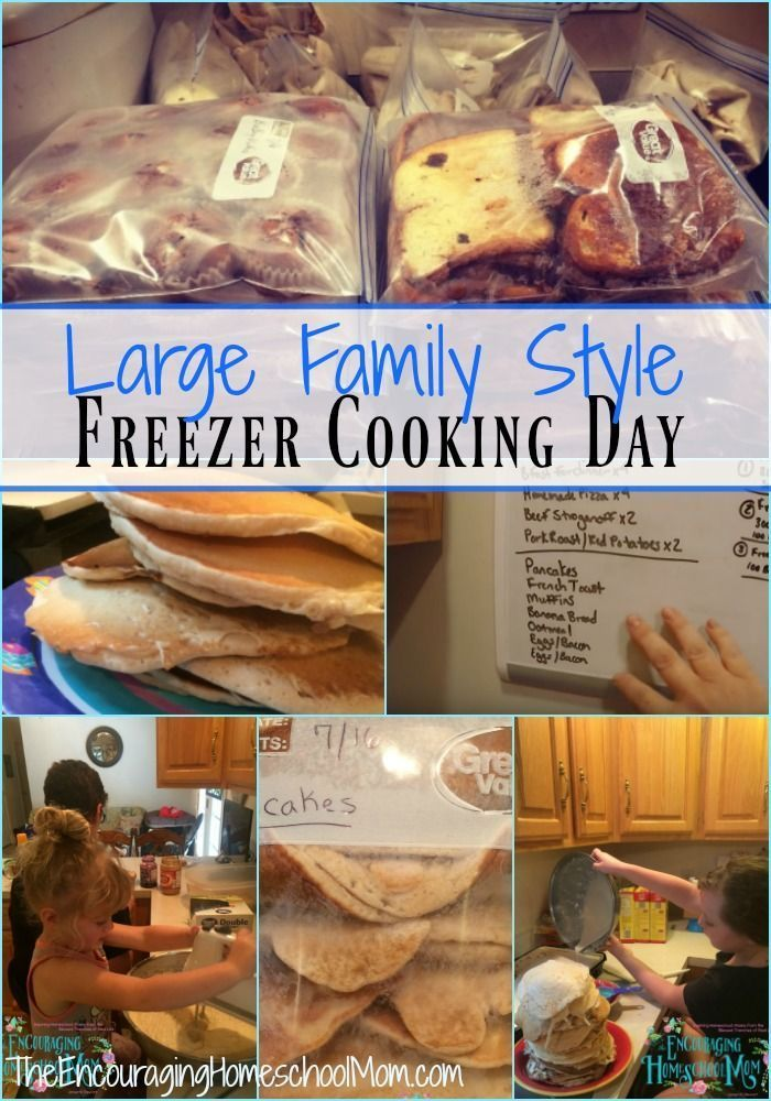 Freezer Cooking Day | Large Family Style! {Pancakes, Sandwiches, Muffins, Cooking Meat for the Month!}