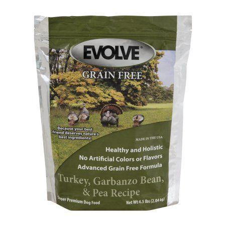 Evolve Grain Free Super Premium Dog Food Turkey, Garbanzo Bean, & Pea Recipe, 4.5 LB