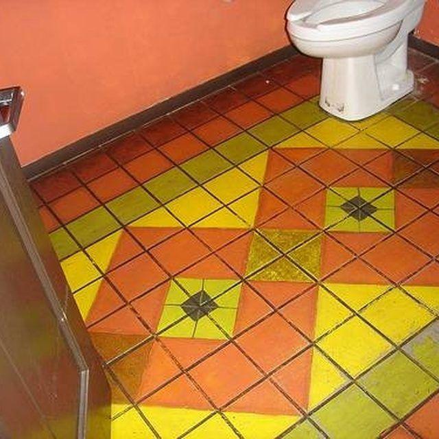 Painted bathroom floor