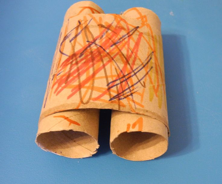 Preschool Crafts for Kids*: Earth Day Recycled Toilet Roll Binoculars Craft