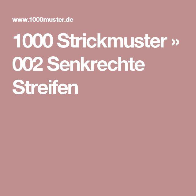 1000 Strickmuster » 002 Senkrechte Streifen