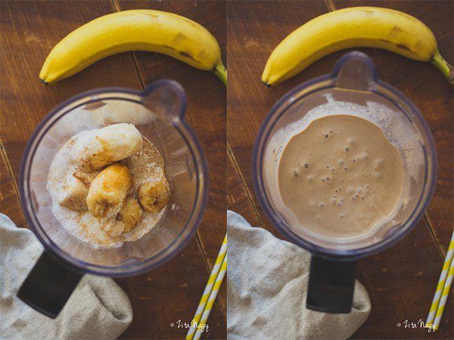 Banános jeges kávé smoothie (laktózmentes, cukormentes, vegán) + Nespresso nyereményjáték