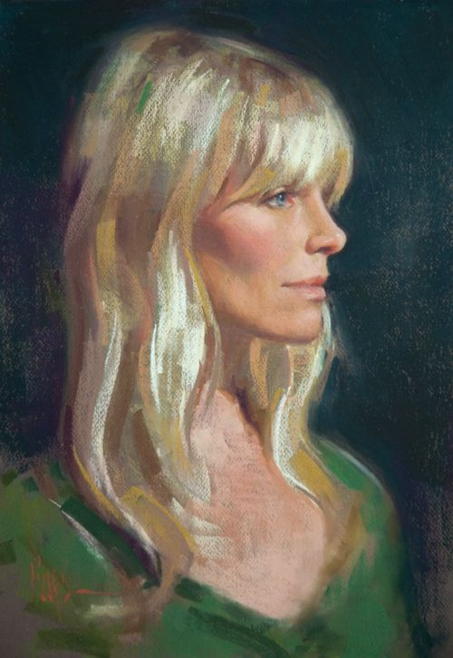 View the intricacies of painting skin tones with this portrait gallery of pastel portraits by Alain Picard.
