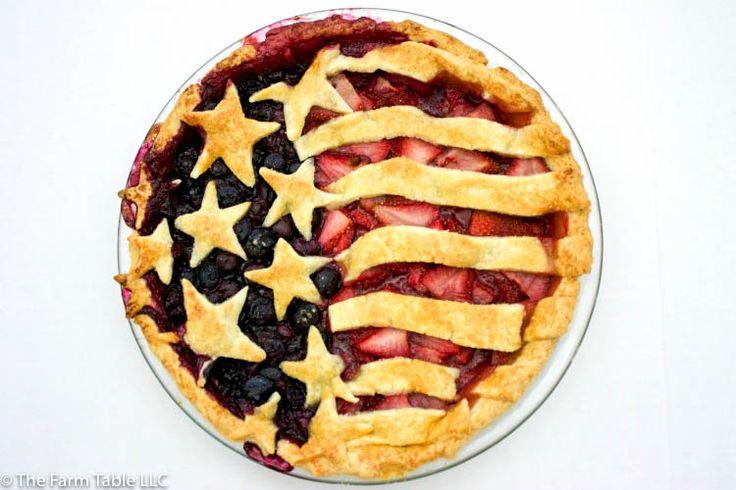 American Flag Pie Recipe #IndependenceDay #4thOfJuly