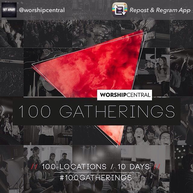 100 GATHERINGS  PE join us at Harvest for our local gathering 30 Jan 7pm @harvestcotn - Video message by Tim Hughes. Local Legends Worship Team #100Gatherings @worshipcentral