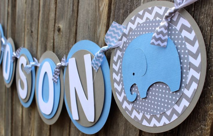 This is perfect for an elephant baby shower! https://www.etsy.com/listing/231124696/elephant-its-a-boy-banner-or-name