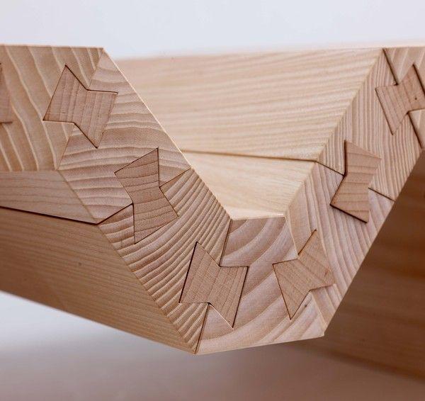 forme des encoches associée à des cales correspondantes à ces encoches, permettent de maintenir les pièces en résistant à la pression et à la traction. ensemble les pièces