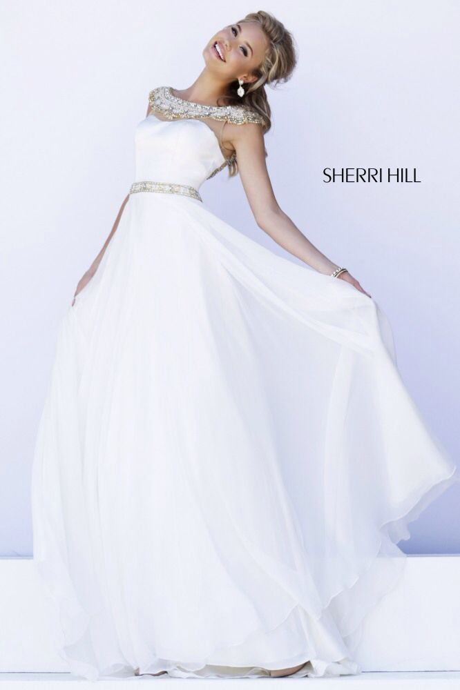 A white prom dress might not be normal, but this one is perfection.