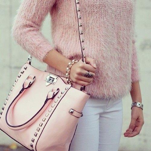 Valentino Rockstud bag | Estilo | Pinterest | Fashion, Pink and Bags