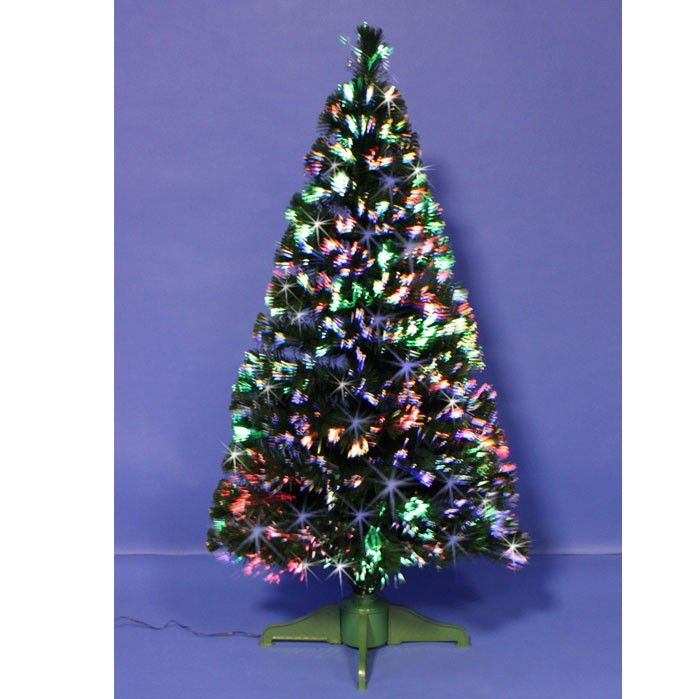 Green Spectrum Fibre Optic Tree 150cm (Approx 5ft) - This tree can brighten  up any home with this fantastic #green fibre optic #Christmas t… - Green Spectrum Fibre Optic Tree 150cm (Approx 5ft) - This Tree Can