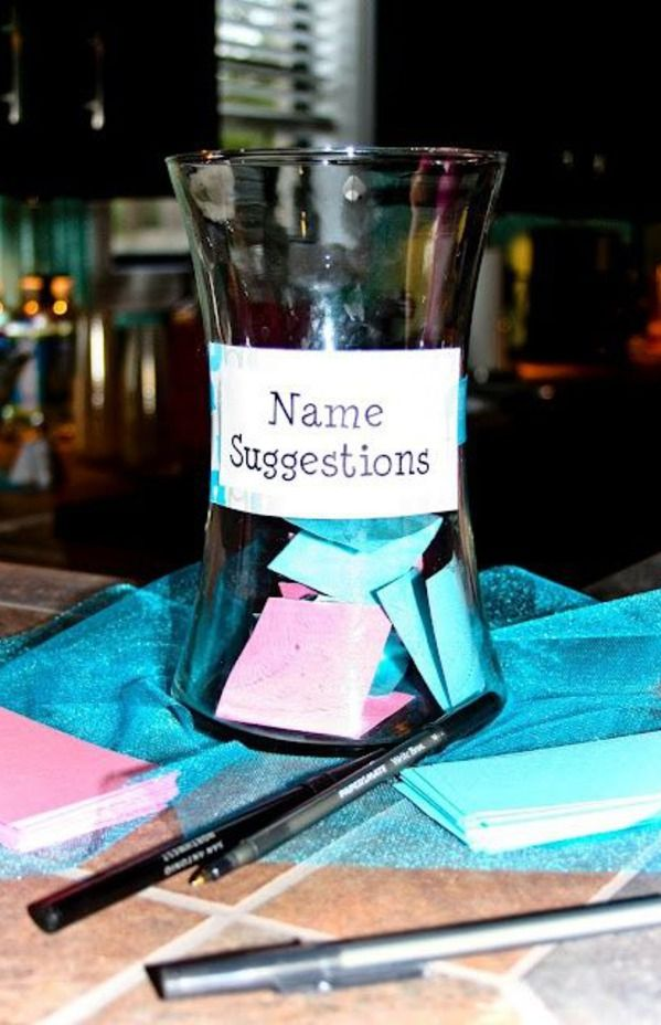 Cute baby shower idea! Would be interesting to see the names people come up with…