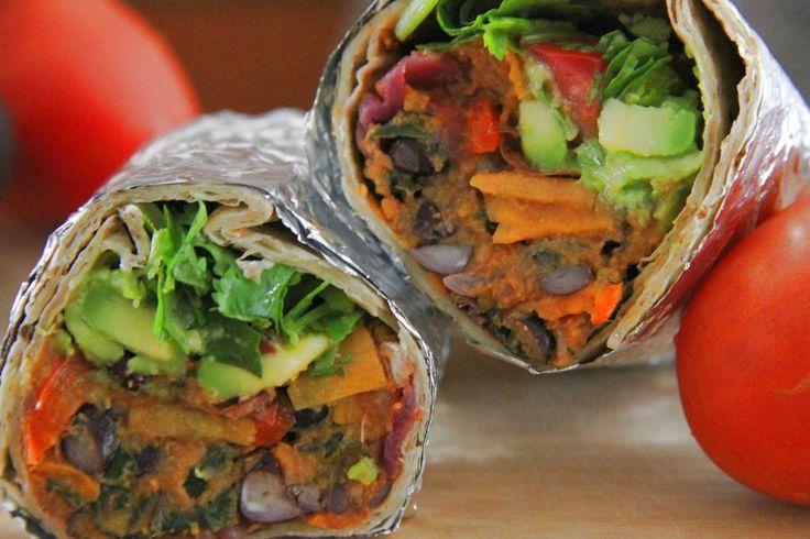 Tali's Tomatoes: Spicy Bean and Sweet Potato Burritos