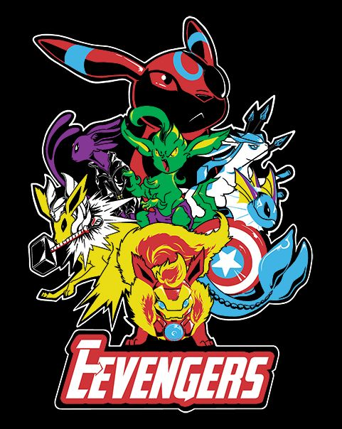 Nick Fureon's Eevengers T-Shirt $10 Pokemon Avengers mashup tee at ShirtPunch today only!