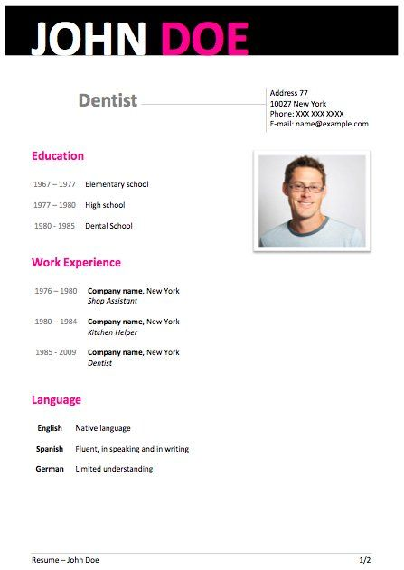 50 free microsoft word resume templates for download - Modern Resume Template Word