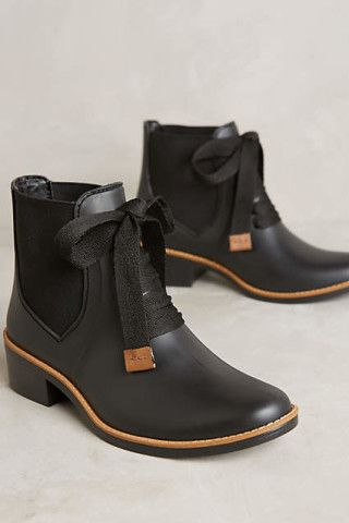 Bernardo Lacey Rain Boots. Rugged yet modern, these rubber boots by Bernardo have rainy days covered.
