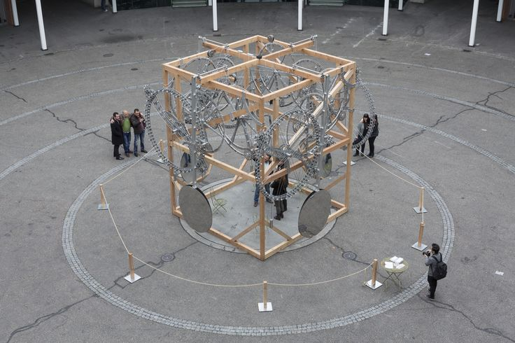 Four-Quadrant Time Machine at Baselworld 2015, in the inner courtyard of the famous watch and clock fair.