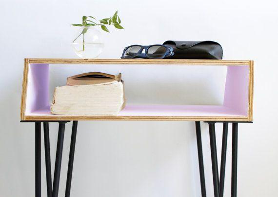 Lavender Purple, Bedside Stool, Nightstand Mid Century, Nightstand Modern, Nightstand Decor, Retro Bedside Table, Nightstand Organizer #BakerFavItems