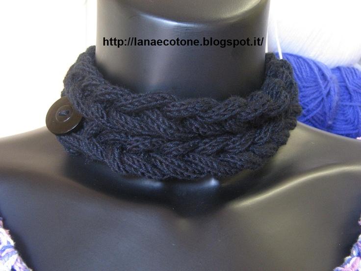 Lana e Cotone (maglia e uncinetto): Collana col tricottin