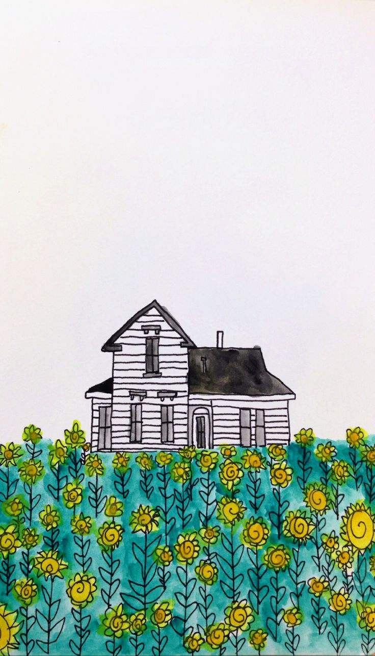 Country Home watercolor by Laura Madison www.lauramadisonillustrates.com