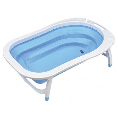 Bañera plegable de Asalvo con diseño fresco y moderno, vaciado rápido y percha para toalla