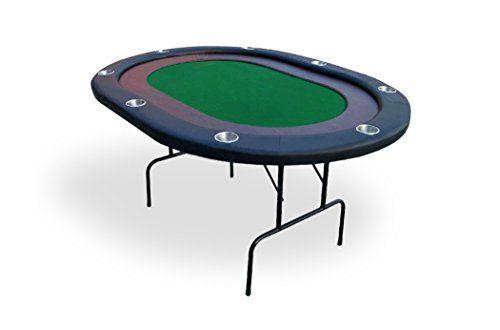 Table de Poker 8 joueurs racetrack (vert) – SOLDES !: Table de poker 8 joueurs racetrack en bois avec pieds rabattables en métal et tapis…